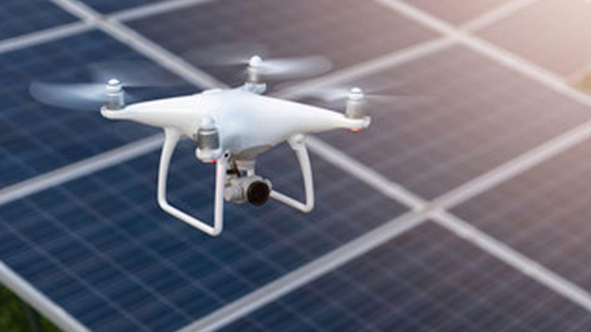 Ispezione termografica degli impianti fotovoltaici con drone