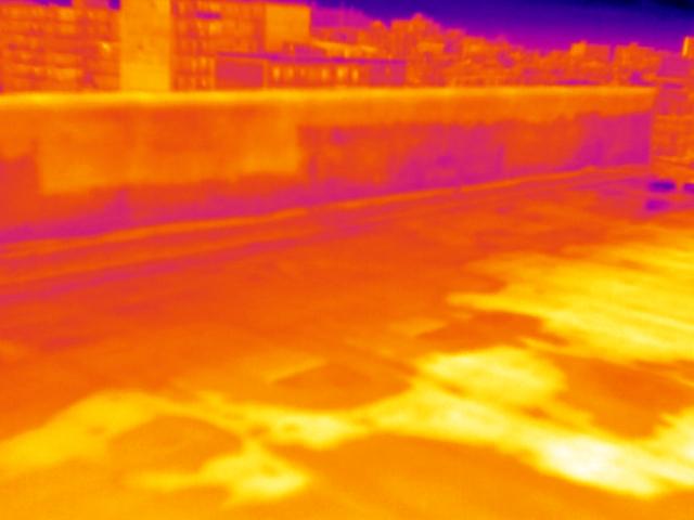 Ricerca infiltrazioni acqua manti impermeabili con termocamera